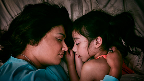 Mom and Daughter Sleeping Video Thumbnail